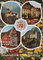 77563- VADUZ CASTLE, GOVERMENT BUILDING, RED HOUSE, GUTENBERG CASTLE, FLOWERS - Liechtenstein