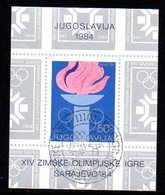 YUGOSLAVIA 1984 Winter Olympics, Sarajevo Blocks (2) Used  Michel Block 24-25 - Blocks & Sheetlets