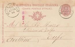 Miglionico. 1899. Annullo Grande Cerchio MIGLIONICO, Su Cartolina Postale, Con Testo - 1878-00 Umberto I