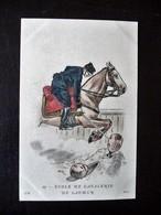 Paris Hergestellt Frankreich Ecole De Cavallerie De Saumur  Ca. 1910 ? Sammlungsaufl. - Uniformen