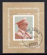 YUGOSLAVIA 1983 Anti-fascist Congress Block Used.  Michel Block 23 - Blocks & Sheetlets