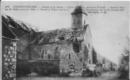 51-2- SAINT-GOND -LOT DE 2 CARTES - EGLISE - VOITURE - PONT SUR LE PETIT MORIN - France