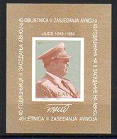 YUGOSLAVIA 1983 Anti-fascist Congress Block MNH / **.  Michel Block 23 - Blocks & Sheetlets