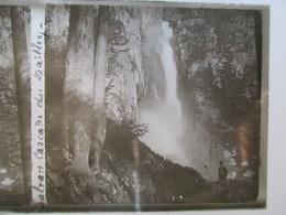 SUISSE - SALVAN - Cascade Du Dailley - Plaque De Verre Stéréoscopique 6 X 13 - TBE - Plaques De Verre