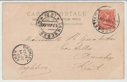 """ESPAGNE """" CPA Façon GRUSS De SAN SEBASTIEN De 1900 Pour L'Angleterre TB - Lettres & Documents"""