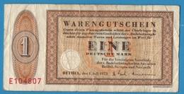 DEUTSCHLAND BETHEL 1 MARK 01.07.1973 Serie E104807 - [11] Local Banknote Issues