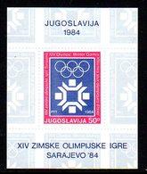 YUGOSLAVIA 1983 Winter Olympics, Sarajevo Block MNH / **.  Michel Block 22 - Blocks & Sheetlets