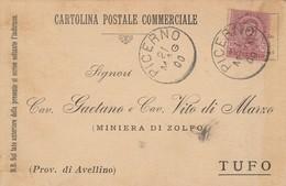 Picerno. 1900. Annullo Grande Cerchio PICERNO, Su Cartolina Postale, Con Testo - 1878-00 Umberto I
