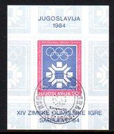 YUGOSLAVIA 1983 Winter Olympics, Sarajevo Block Used.  Michel Block 22 - Blocks & Sheetlets