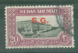 Sdn: 1950   Official - Air - Pictorial  'S.G.'  OVPT   SG O66    20P     Used - Sudan (...-1951)