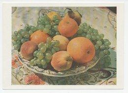 Postal Stationery Soviet Union 1957 Fruit - Orange - Peach - Grapes - Fruit