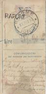 Rapone. 1919. Annullo Guller RAPONE * POTENZA * + Lineare RAPONE, Su Ricevuta Vaglia - 1900-44 Vittorio Emanuele III