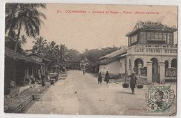 8702 Vietnam Cochinchine Environs De Saigon Tuduc Maison Commune Stamping Indo-Chine - Vietnam