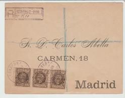 FERNANDO POO : Bel Affranchissement / L.R De 1900 Pour Madrid TB - Fernando Poo
