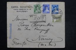 ROUMANIE - Enveloppe Commerciale En Recommandé De Bucarest Pour Nancy En 1928 , Affranchissement Plaisant - L 25632 - 1918-1948 Ferdinand, Charles II & Michael