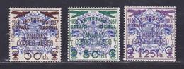 ESPAGNE AERIENS N°  141 à 143 ** MNH Neufs Sans Charnière, B/TB (D8726) Surcharge CANARIAS - 1937 - Luftpost