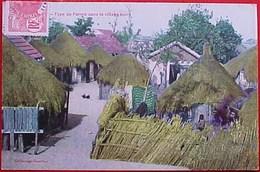 Cpa  SENEGAL , Animée , TYPE De FERME Dans Un VILLAGE NOIR , Villageois ,1912 , FARM In AFRICA  OLD PC . EDITEUR GAUTRON - Afrique