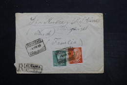 ESPAGNE - Enveloppe En Recommandé De Alnama Pour La France En 1959 , Affranchissement Bicolore - L 25634 - 1951-60 Lettres