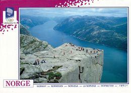 1 AK Norwegen * Preikestolen, Eine Natürliche Felsplattform Am Lysefjord * Karte Zur Olympiade In Lillehammer Erschienen - Norwegen