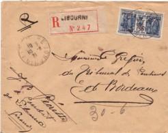 FRANCE : 1931 - Lettre Recommandée De Libourne Pour Bordeaux - France