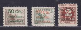 ESPAGNE AERIENS N°  144 à 146 ** MNH Neufs Sans Charnière, B/TB (D8727) Surcharge CANARIAS - 1937 - Nuevos & Fijasellos