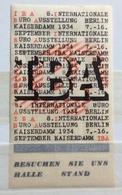BERLIN  KAISERDAMM 1934   IBA - Erinnophilie