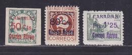 ESPAGNE AERIENS N°  147 à 149 ** MNH Neufs Sans Charnière, B/TB (D8728) Surcharge CANARIAS - 1937 - Nuevos & Fijasellos