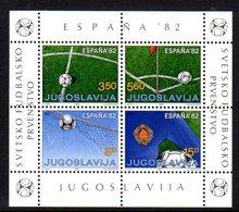 YUGOSLAVIA 1982 Football World Cup Block MNH / **.  Michel Block 20 - Blocks & Sheetlets
