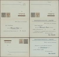 Allemagne 1906. 2 Entiers Postaux Timbrés Sur Commande. Association De Skat, Jeu De Cartes Allemand - Jeux