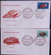 Répoblika Malagasy ( Madagascar ) - 1970 - Lot De DEUX Enveloppes Premier Jour D'Émission . - Madagascar (1960-...)