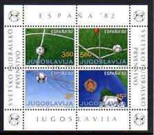 YUGOSLAVIA 1982 Football World Cup Block Used.  Michel Block 20 - Blocs-feuillets