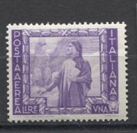 REGNO 1938 POSTA AEREA IMPERO 1 LIRA * GOMMA ORIGINALE - 1900-44 Victor Emmanuel III