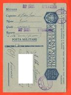 Porto Torres Sassari 533° Compagnia Mitraglieri  PM 1942 Franchigie Forze Armate Posta Militare X Vicenza - 1900-44 Vittorio Emanuele III