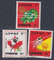Ethiopie N° 781 / 83 O Jeux Olympiques De Montréal, Les 3 Valeurs Oblitérations Légères (le 781 X) Sinon TB - Ethiopie
