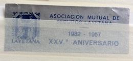 ASOCIACIONMUTUAL DE SEGUROS LAYETANA  1932 - 1957   Etichetta Pubblicitaria Gommata - Erinnophilie