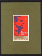 YUGOSLAVIA 1978 Communist League Congress Block MNH / **..  Michel Block 18 - Blocks & Sheetlets