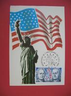 Carte Maximum 1976 N° 1879 - Bicentenaire De L'Indépendance Des Etats-Unis - Cartes-Maximum