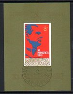 YUGOSLAVIA 1978 Communist League Congress Block Used.  Michel Block 18 - Blocks & Sheetlets
