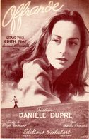 RARE - DANIELE DUPRE / EDITH PIAF - 1952 DEAUVILLE - OFFRANDE - DE CHARLES DUMONT /ROGER NORMAND - TRES BON ETAT - - Musique & Instruments