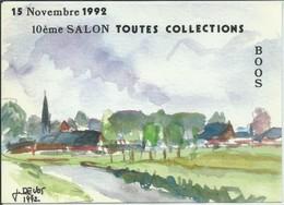 Boos-Carte De Salon-10ème Salon Toutes Collections-Dessin De J.De.Vos (Voir Scan Du Verso)-Carte N° 00 301 (Voir Verso) - Francia