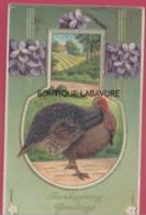 THANKSGIVING----Lot De 3 Cpa--Embossées - Thanksgiving