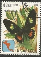 """Papillon """"Parides Iphidamas"""" (Insecte) - Nicaragua - 1982 - Nigeria (1961-...)"""