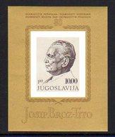 YUGOSLAVIA 1972 Tito 80th Birthday Block MNH / **..  Michel Block 17 - Blocks & Sheetlets
