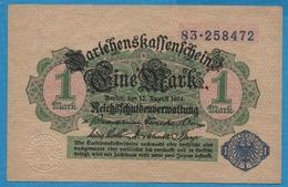 DEUTSCHES REICH 1 Mark Reichsschuldenverwaltung12.08.1914No 83.258472 P# 52 - [ 2] 1871-1918 : Empire Allemand
