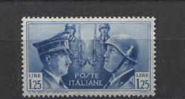 REGNO 1941 FRATELLANZA D'ARMI 1,25 GOMMA ORIGINALE - 1900-44 Victor Emmanuel III