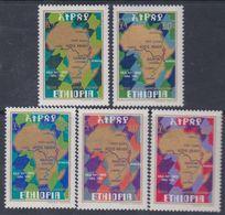 Ethiopie N° 832 / 36 X  Autoroute Transafricaine, Les 5 Valeurs Trace De Charnière Sinon TB - Ethiopie