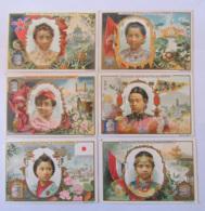6 Chromos Liebig - Types De Femmes Orientales (Siam, Inde, Turquie, Chine, Java, Japon) - Liebig