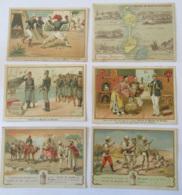 Lot De 6 Chromos Alcool De Menthe Ricqlès Thème Colonies, Colonisation Dont Carte Géographie St Pierre Et Miquelon - Autres