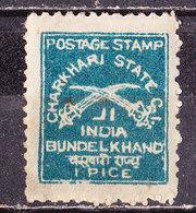India Charkhari 1909 1/2 P.   Usato - Charkhari