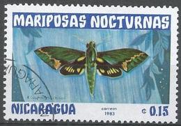"Papillon ""Xilophanes Chiron"" (Insecte) - Nicaragua - 1983 - Nigeria (1961-...)"